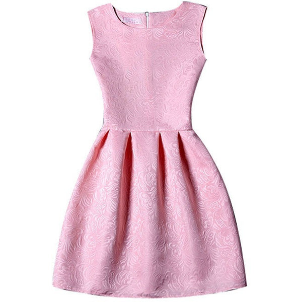 Pretty pink lady party dress