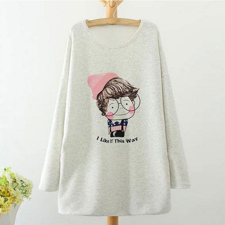 Cute Nerdy Girl Sweatshirt Tunic