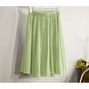 Linen Blend Natural Skirt