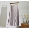 silver grey classic vintage pleated skirt