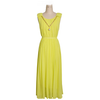 summer yellow maxi dress