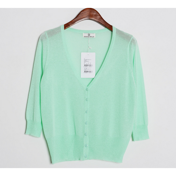 Minty green knit cardigan