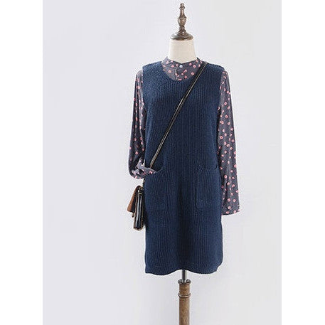 Ready for Class Knit Vest - dark blue