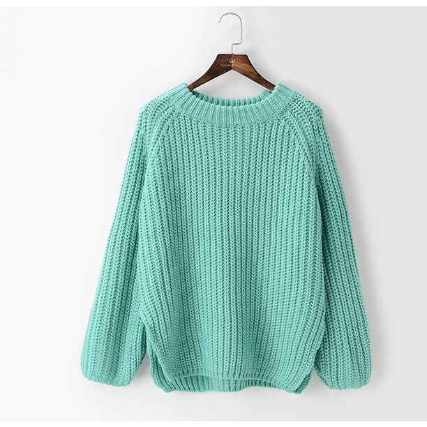 cute and sweet sweater - light green