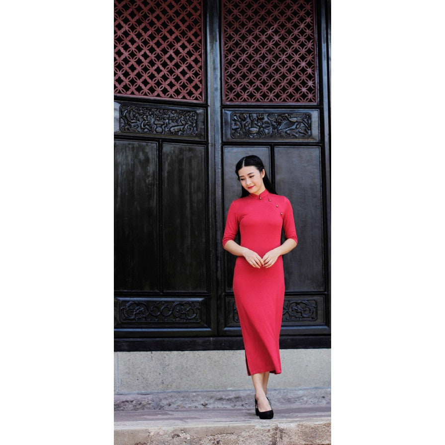 Poetry Reading Dress - red