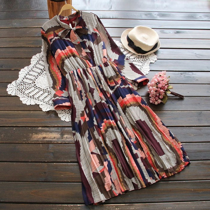 deco art print dress