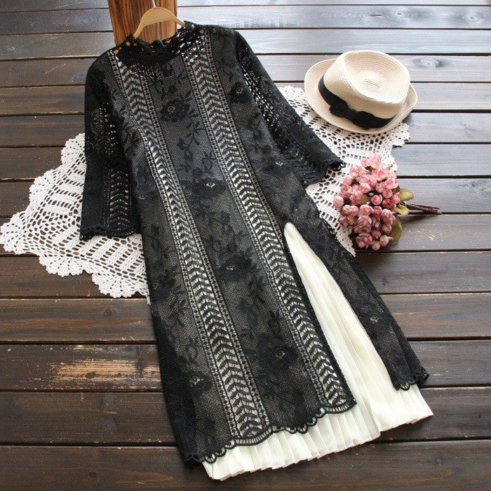 unique split lace dress