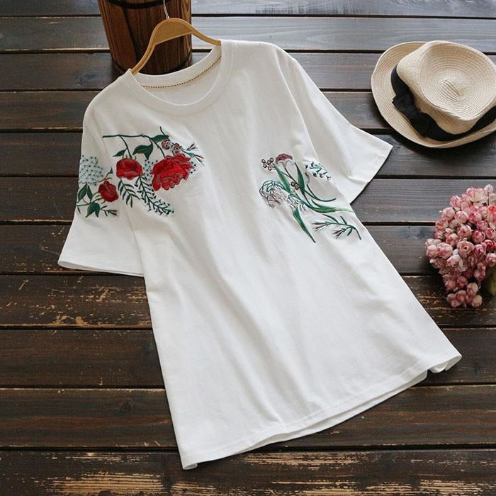 Embroidery Long Tee