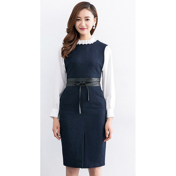 professional belted dress