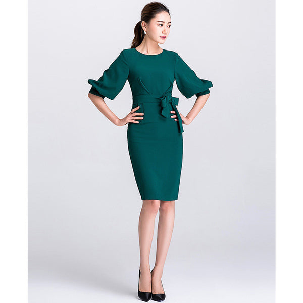 elegant teal green dress