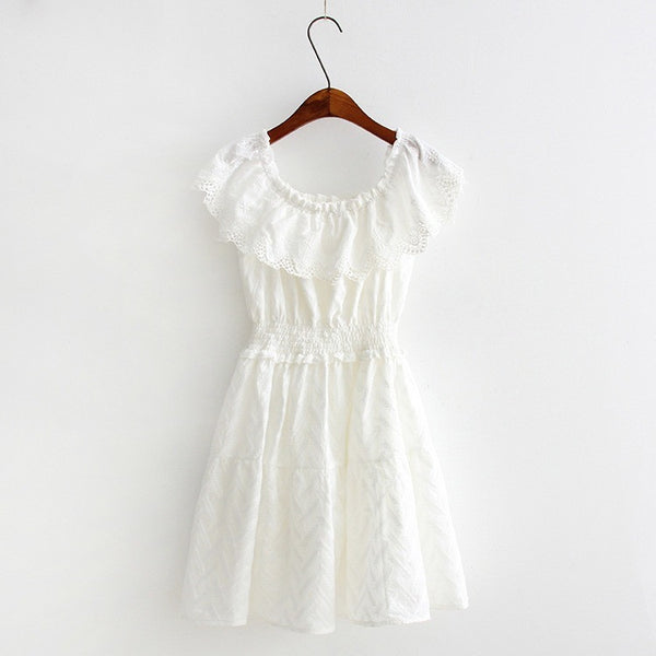 ruffle smocked dress