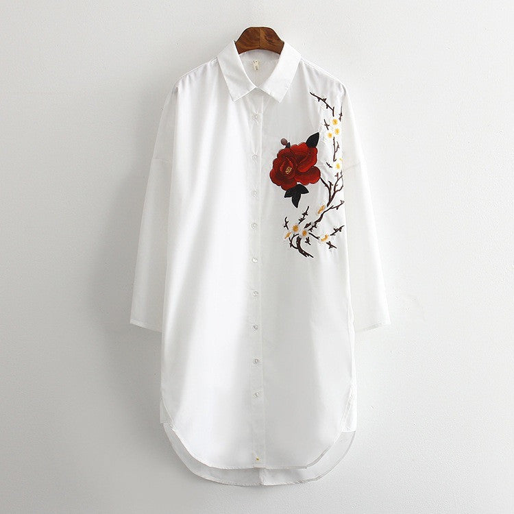 rose and blossom long shirt
