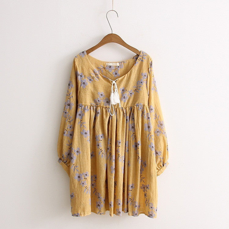 bohemian babydoll tunic dress