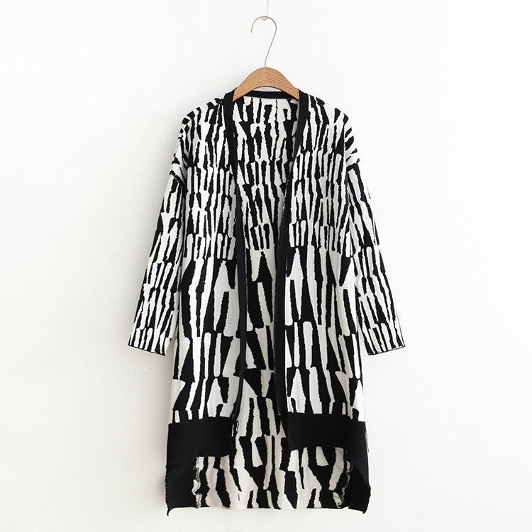 black and white zebra cardigan