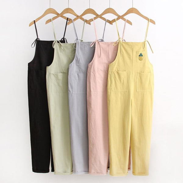 Pineapple Cotton Overall