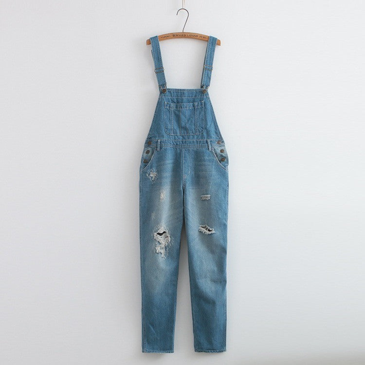 80s ripped overalls
