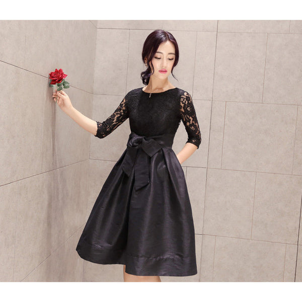 Just You and Me Dress - black