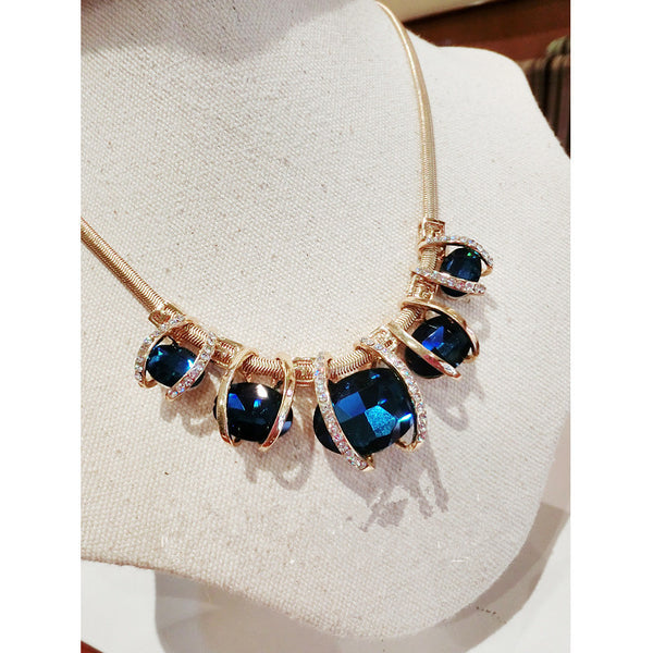 Something Blue Statement Necklace - Sensibilitie 1