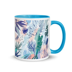 TROPICS Mug with Turquoise Inside