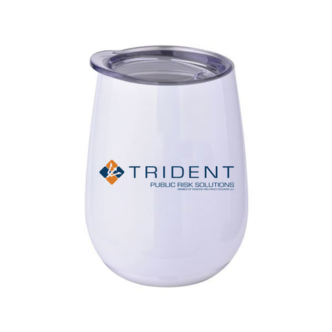 TRIDENT 10 oz Stainless Steel Stemless Wine Glass