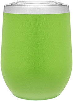 12oz thermal tumbler with copper vibrant colors lime green