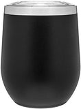 12oz thermal tumbler with copper vibrant colors BLACK