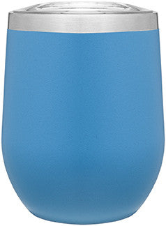 12oz thermal tumbler with copper vibrant colors aqua