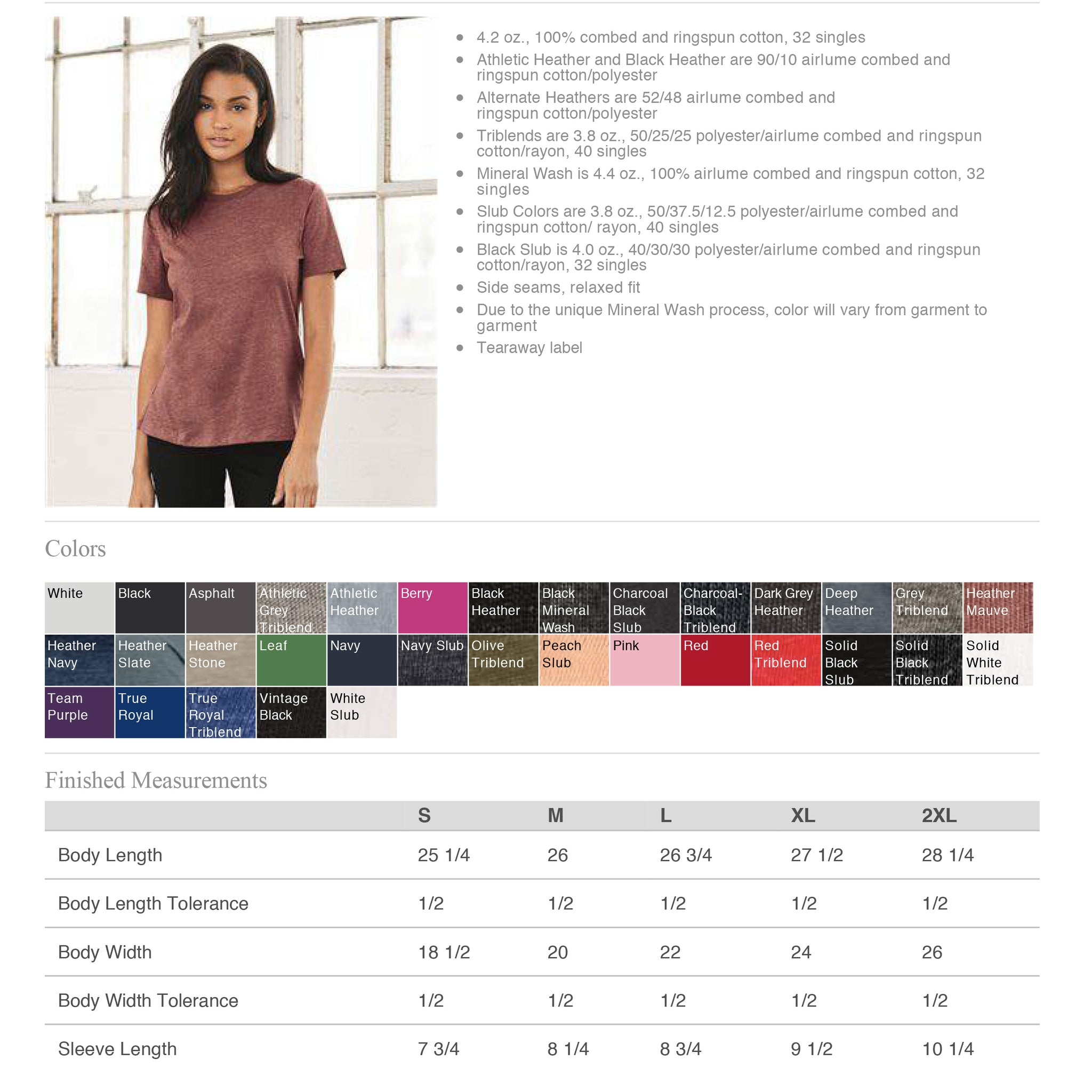 bella + Canvas womens relaxed tee