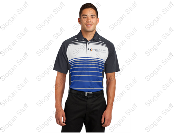 Trident Sport-Tek® Dry Zone® Sublimated Stripe Polo