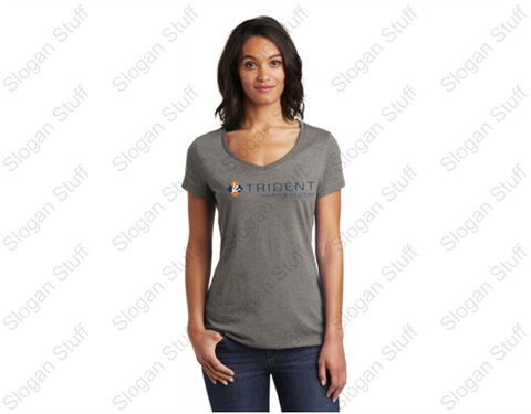 TRIDENT Women's V neck  Short Sleeve VIP