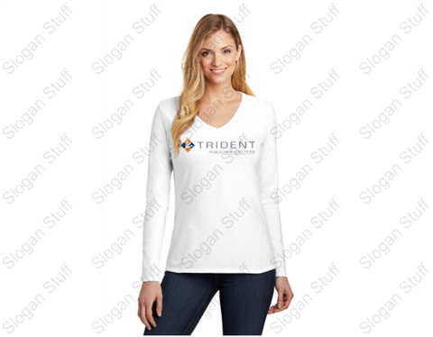 TRIDENT Women's Long Sleeve V Neck