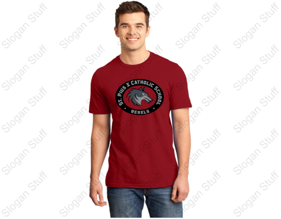 ST. PIUS Short Sleeve Spirit T-Shirt Heathered Red