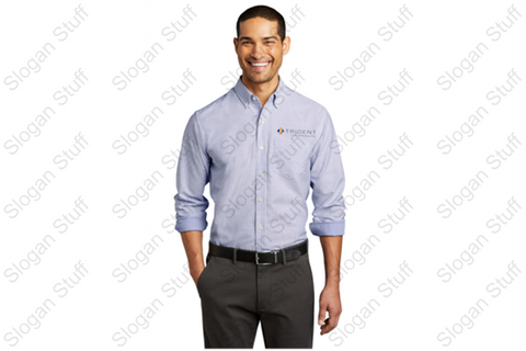 TRIDENT Port Authority® SuperPro™ Oxford Stripe Shirt