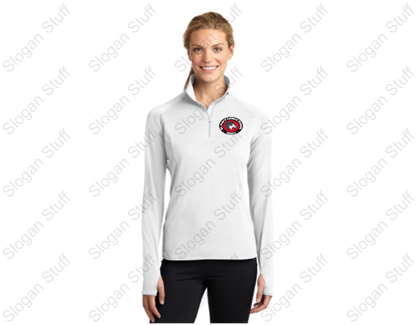 ST. PIUS  Sport-Tek® Sport-Wick® Stretch 1/2-Zip Pullover Ladies