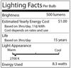 G25 60 Watt Equivalent Light Bulb