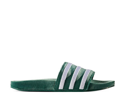 Adidas Adilette Slides Velvet Dark Green BY9907