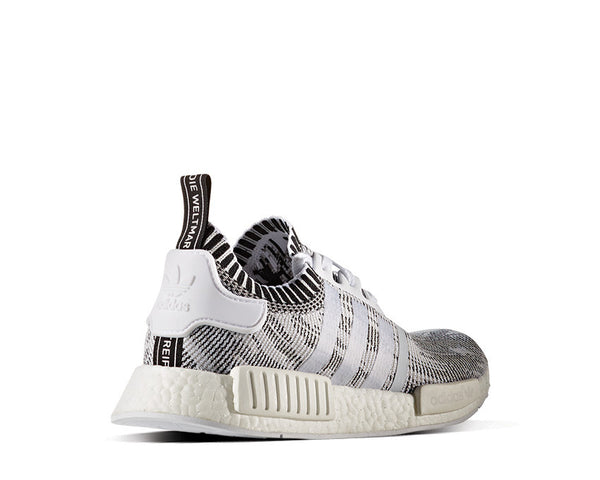 7629f97d0bf25 Adidas NMD R1 Primeknit Oreo Black White Linen Pack NOIRFONCE Sneakers