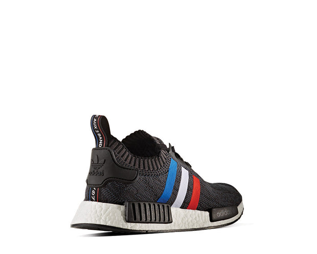 release date: 9f807 a48eb Adidas NMD R1 Primeknit Tricolor Black NOIRFONCE Sneakers