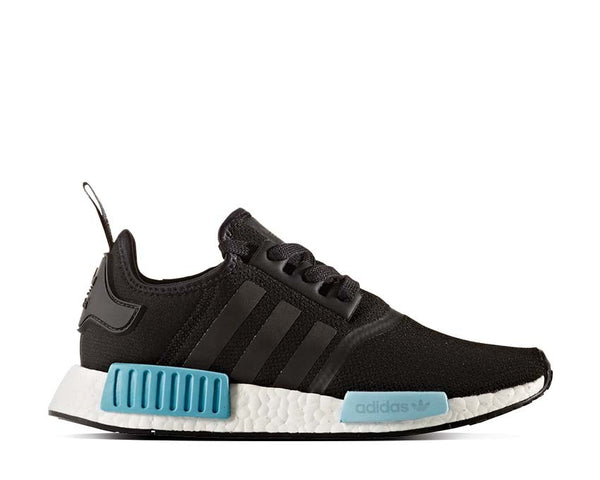 824f775c01011 Adidas NMD R1 W Black Light Blue NOIRFONCE Sneakers