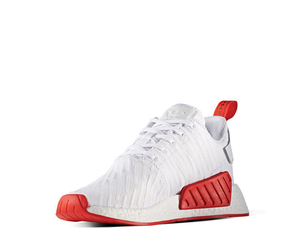 45c1cc481 Adidas NMD R2 PK White Red NOIRFONCE Sneakers