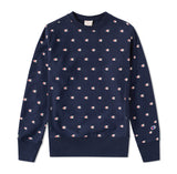 Champion All Over Embroidered Crew Sweat Navy