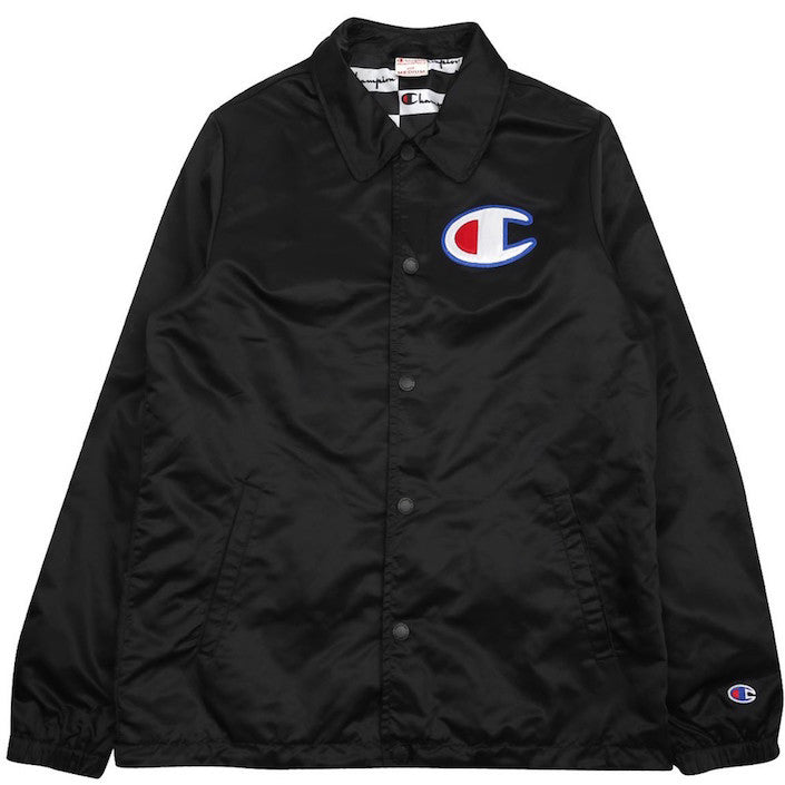 Champion Coach Jacket Black Noirfonce
