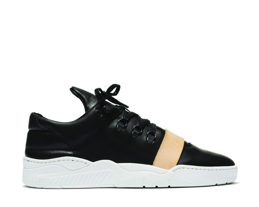 Filling Pieces Mountain Cut  Leather Strap Black