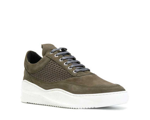 Filling Pieces Low Top Re-stitched Army Green