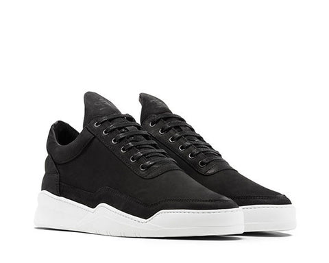 Filling Pieces Low Top Ghost Matt Nubuck Black