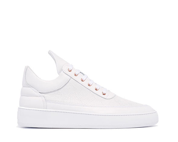 Filling Pieces Low Top Iguana White