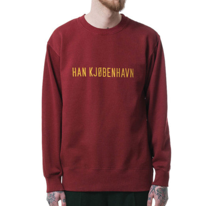 HAN KJØBENHAVN Bulky Crew Logo Ground Red