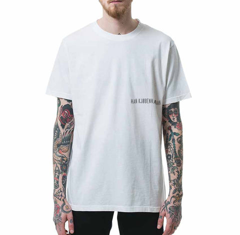 HAN KJØBENHAVN Casual Tee White Small Chest Logo