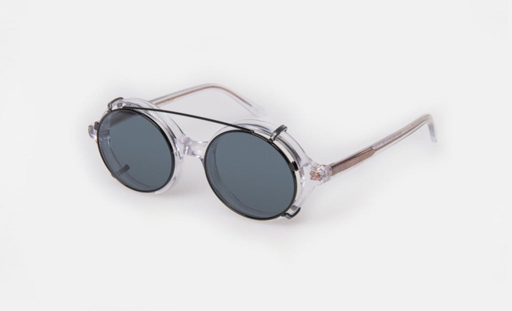 HAN KJØBENHAVN Doc Clip On Clear Blue Lenses FRAME-DC-CO-30