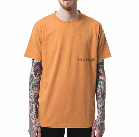 HAN KJØBENHAVN Casual Tee Orange Small Chest Logo
